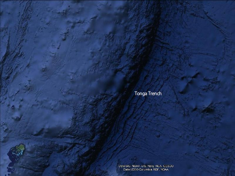 Tonga trench the 2nd deepest place on earth all five oceans tonga trench sciox Image collections
