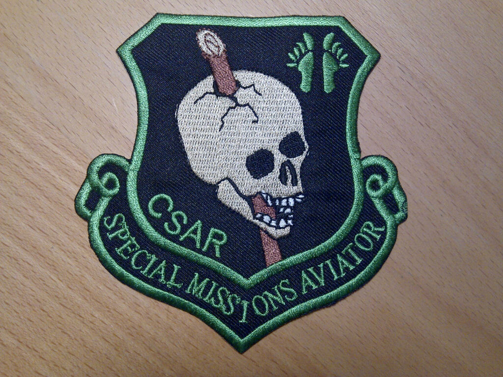 """USAF AFSOC Para Rescue PJ Jolly Green CSAR Special Missions Aviatior 4/"""" patch"""