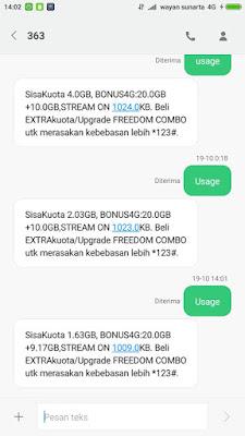 Cara Cek Kuota Indosat Ooredoo (4G/3G)