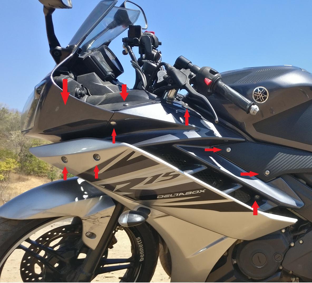 Yamaha R15: Fix in my garage: Clutch and Throttle freeplay