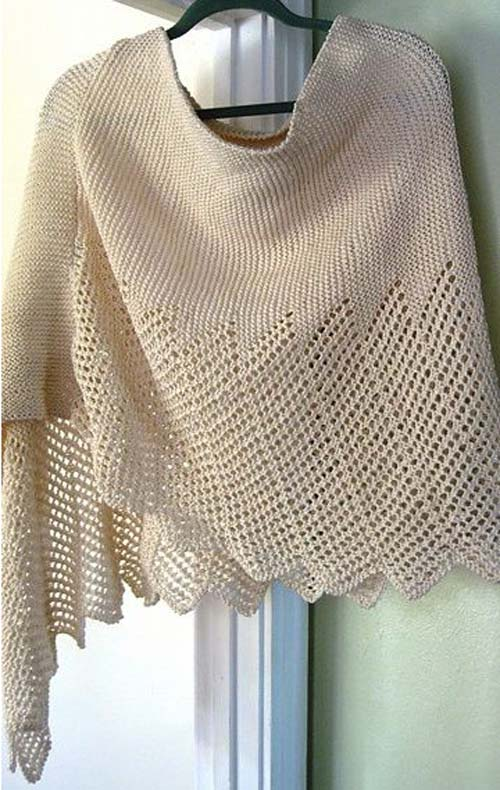 Lace Cotton Ponchette - Free Pattern