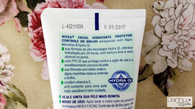 Resenha - Hidratante Facial Controle de Brilho - Nivea