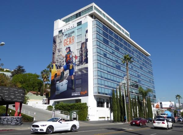 Giant Jon Glaser Loves Gear TV billboard