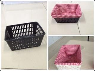 Elişi Çamaşır Sepeti Süsleme Yapımı, Resimli Açıklamalı; 1