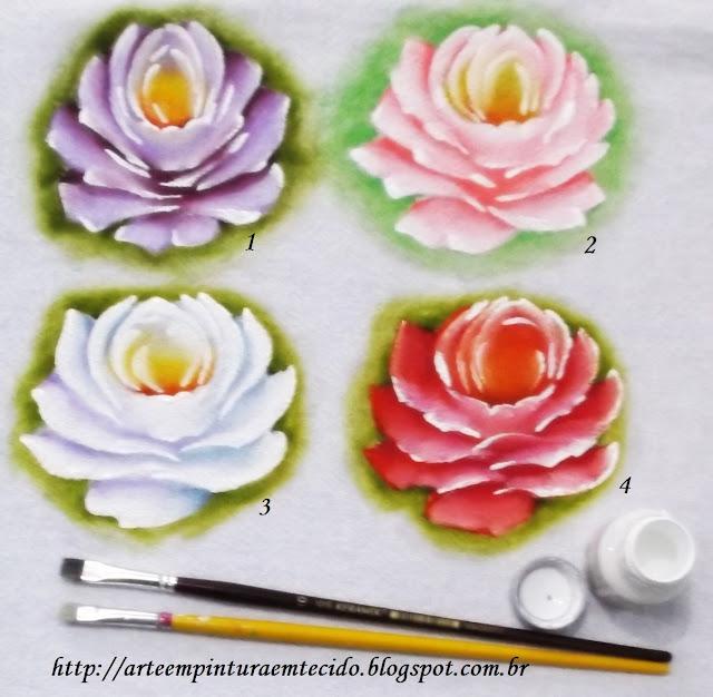 pintura em tecido passo a passo rosas