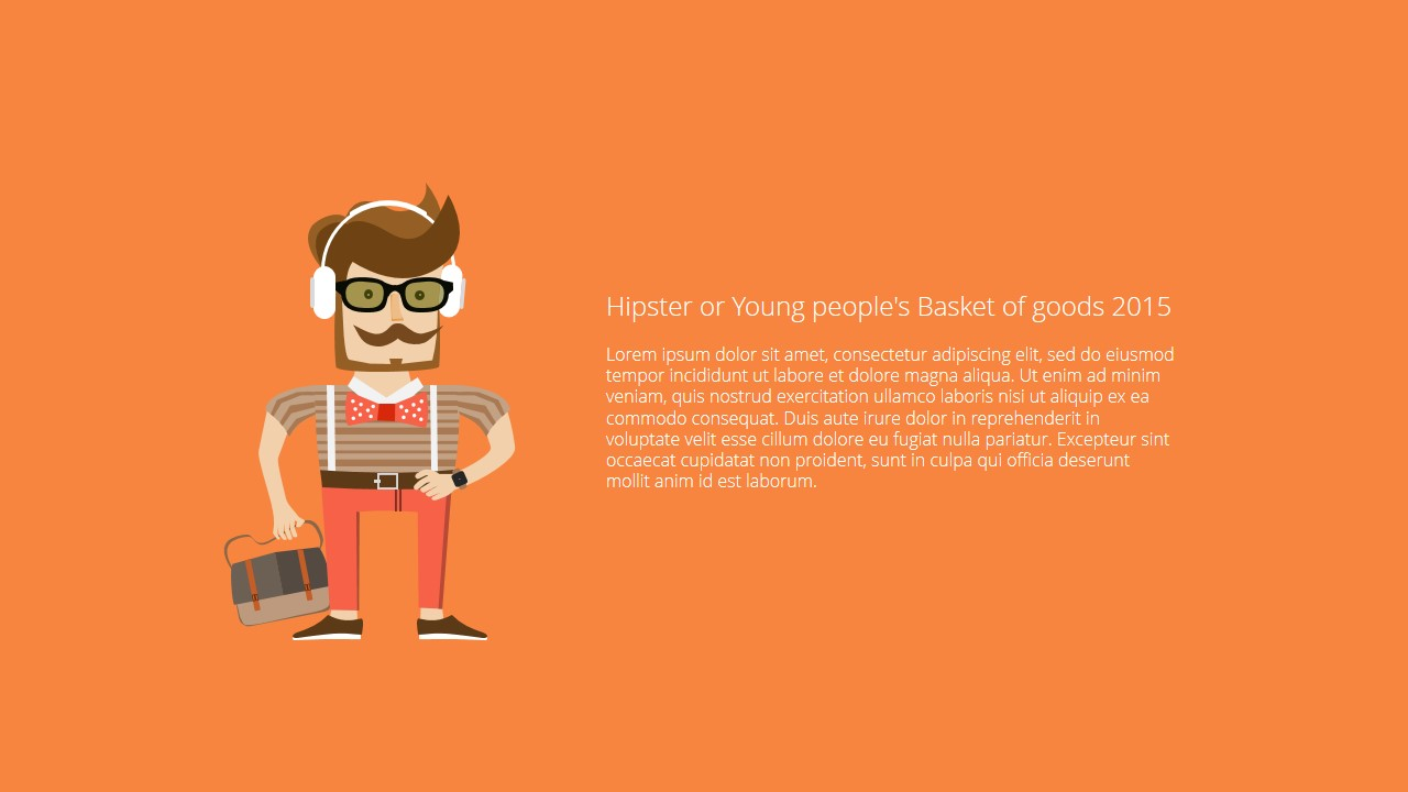 Free powerpoint template with hipster and shopping cart design hipster or young peoples basket of goods2 toneelgroepblik Images
