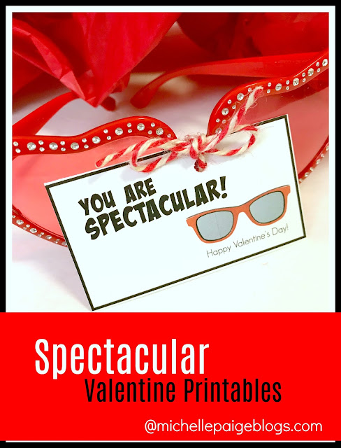 Printable Spectacular Valentine Printable @michellepaigeblogs.com