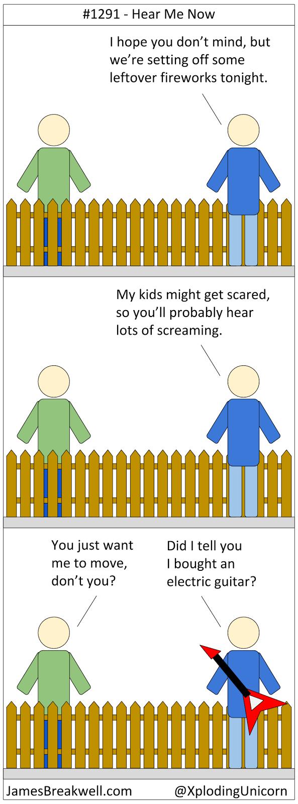 James Breakwell's Unbelievably Bad Webcomic: Hear Me Now