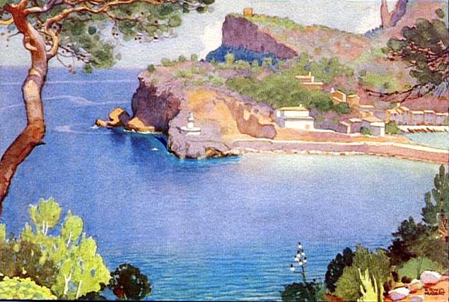 Erwin Hubert, Puerto de Soller, Mallorca en Pintura, Mallorca pintada, Paisajes de Mallorca
