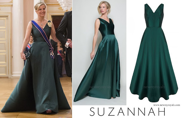 Countess Sophie wore SUZANNAH V Curve Gown Bottle Green