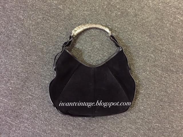 f43425e103e9 Yves Saint Laurent Suede Mombasa Hobo Shoulder Bag-Black (Vintage)
