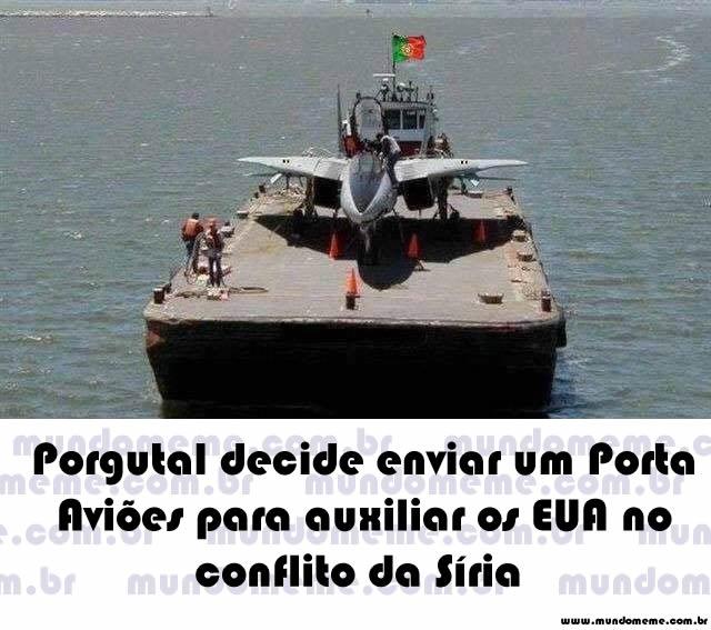 Portugal decide enviar porta aviões para apoiar os EUA no conflito da Síria