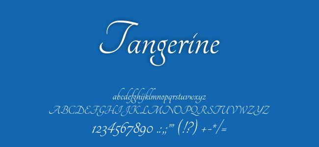 Kumpulan Font Undangan - Tangerine Font