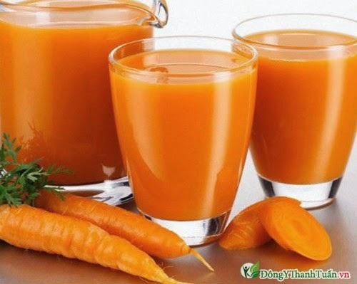 Thực phẩm mát gan giải độc - cà rốt