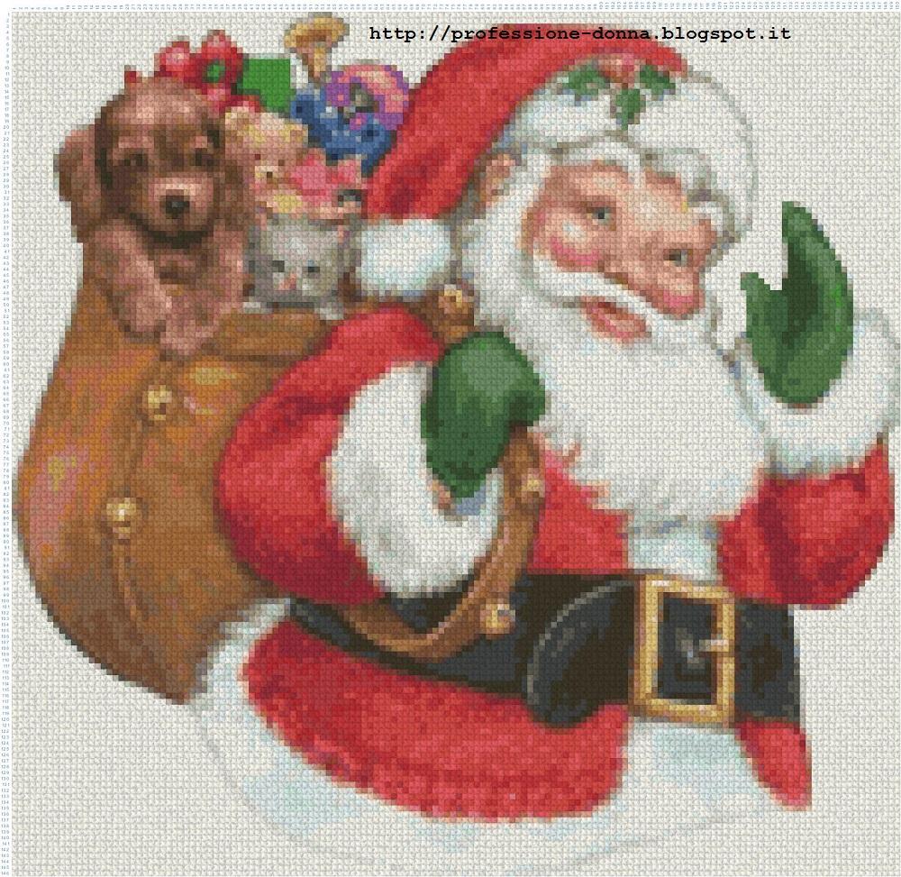 Babbo Natale Punto Croce Schemi Gratis.Professione Donna Schemi Per Il Punto Croce Babbo Natale
