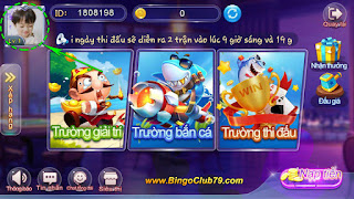 Sảnh chính game Bingo Club