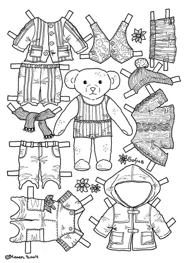 Karen`s Paper Dolls: Sofus 1-2 Paper Doll to Colour. Sofus
