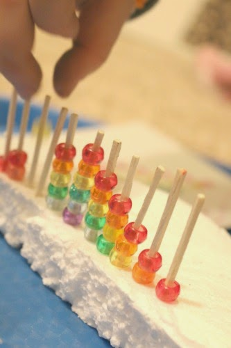 fine motor rainbow STEM activity