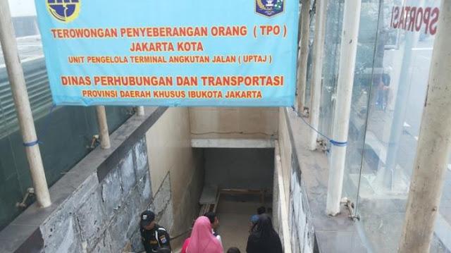 Tempat Penyebrangan Orang Bawah Tanah di stasiun Jakarta Kota, Kota Tua