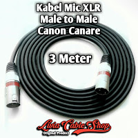 Kabel Mic XLR Male To Male Canon Canare 3 Meter