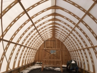 Wood spring back problem on gothic arch bow shed for Gothic greenhouse plans