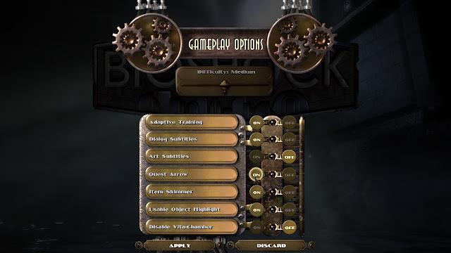 BioShock gameplay options pc