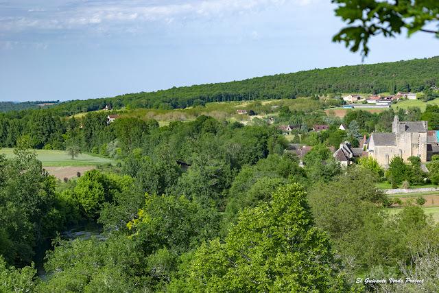 Sergeac desde el Auberge de Castel Merle - Francia por El Guisante Verde Project