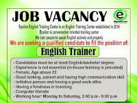 lowongan kerja english trainer di semarang