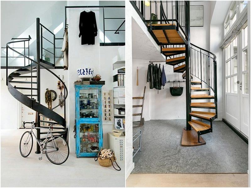 Elige la mejor escalera de caracol para interiores amor for Escalera decoracion ikea