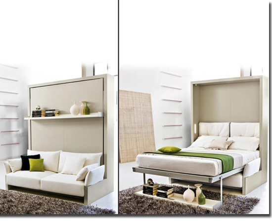 Móveis inteligentes casa-apto pequeno - Sofá Cama