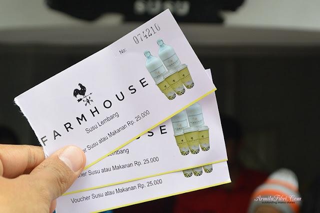 Tiket masuk Farm House Susu Lembang