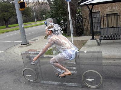 Diseño de bicicleta invisible