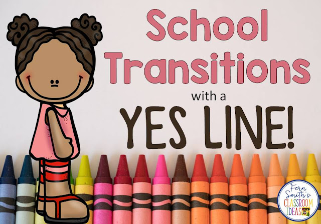 Need help during the school day with your students' hallway transition behavior? I have just the tip with my FREE Yes Line! Fern Smith's Classroom Ideas Tuesday Teacher Tips with a free poster included for your classroom!