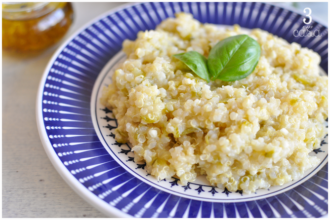 risoto quinoa com queijo