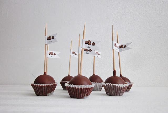 Die Cakepops von der Seite