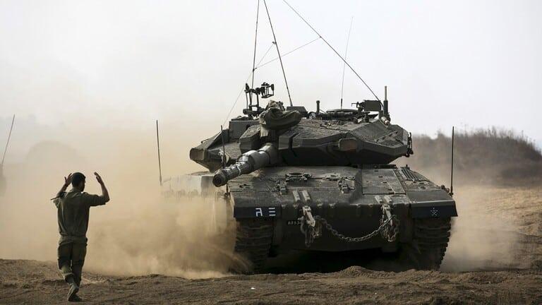 دبابات-الجيش-الإسرائيلي-خطوط-المياه-الناقلة-الأغوار
