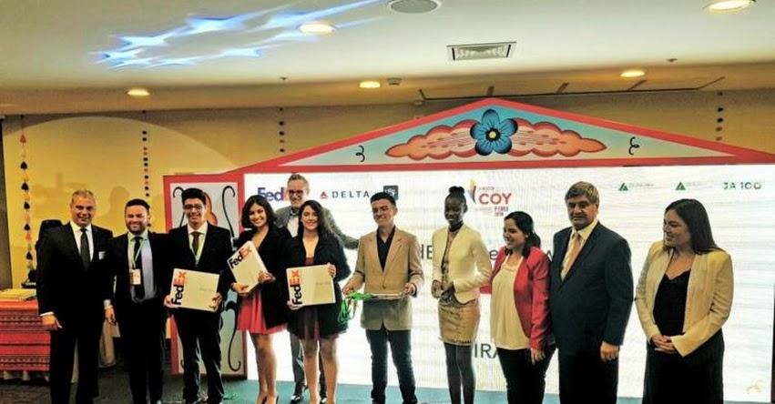 Distinguen a escolares peruanos en la competencia mundial de emprendimiento COY 2018