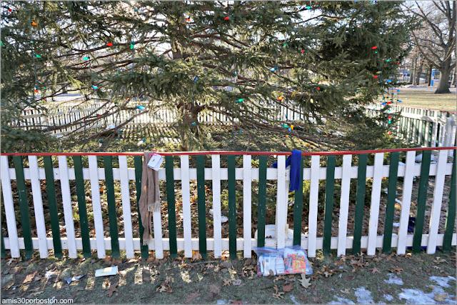 Donaciones en el Árbol de Navidad Oficial de Boston 2017