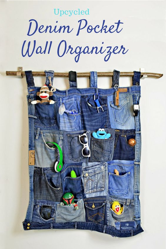 upcycled blue jeans