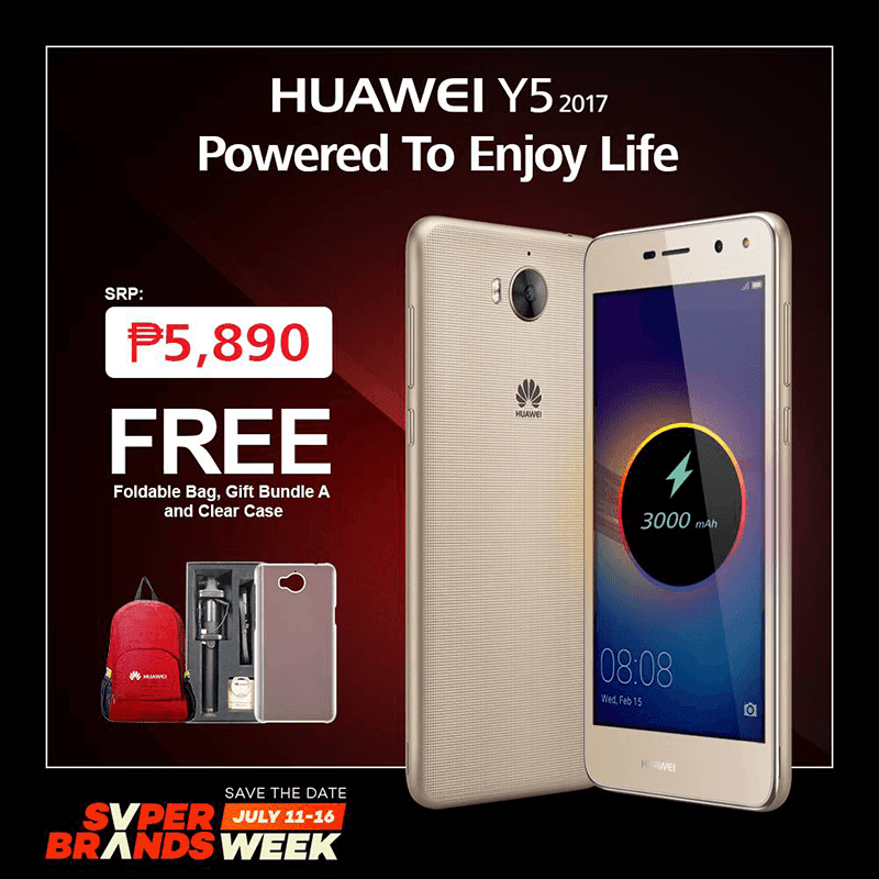 Huawei's Y5 2017 Will Be Available At Lazada PH Tom With Lots Of Freebies!