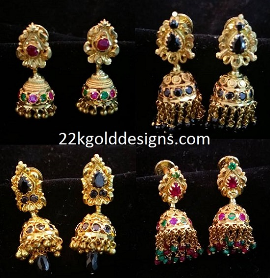 Daily Wear Small Gold Jhumkas
