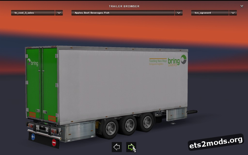 Tandem 3 axles Coolliner Trailer
