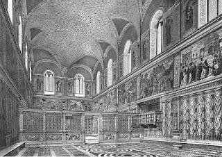 desenho interior sistina antes michelangelo - Dez Curiosidades sobre o teto da Capela Sistina