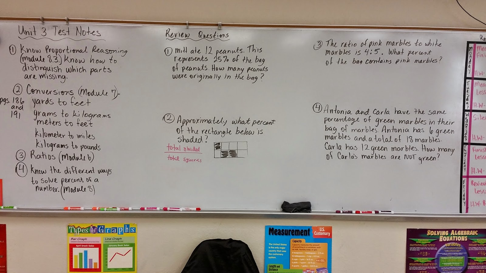 Mrs  Negron 6th Grade Math Class: Unit 3 Test notes