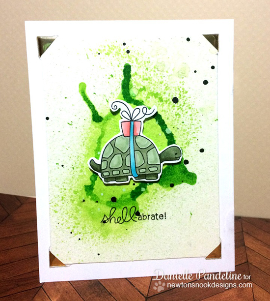 Shell-abrate Birthday Turtle Card by Danielle Pandeline | In Slow Motion stamp set by Newton's Nook Designs