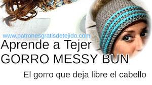 Cómo Tejer Gorro Messy Bun / Tutorial Crochet