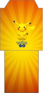 Bolsita de Té para imprimir gratis de Pikachu.