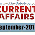 6th September 2018 Current Affairs