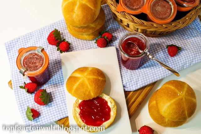 Erdbeermarmelade | Erdbeerkonfitüre | mit Gelierzucker 2:1 | einfach - Foodblog Topfgartenwelt