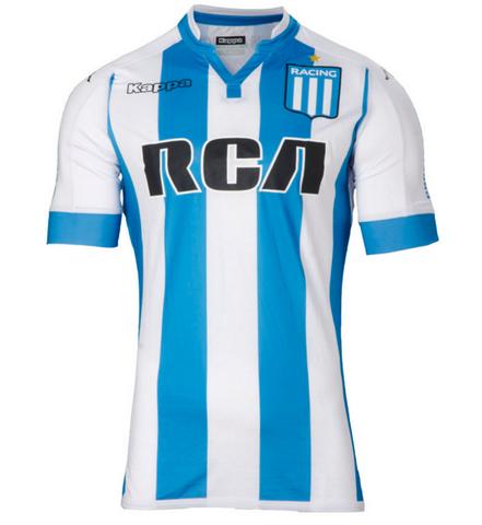 Futbol Internacional 2017 2018  camisetas Racing Club primera la ... 9c82d0843bf95